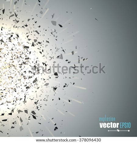 vector explosion with black