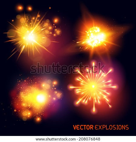 vector explosions   collection
