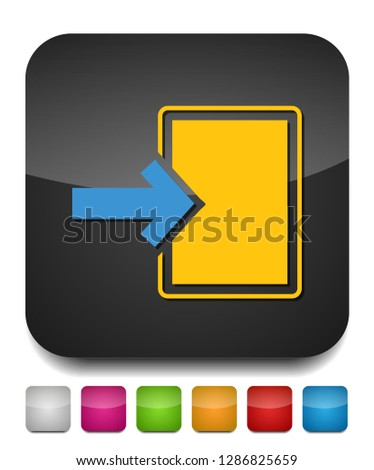 vector Export file icon - vector document illustration, flat navigation button