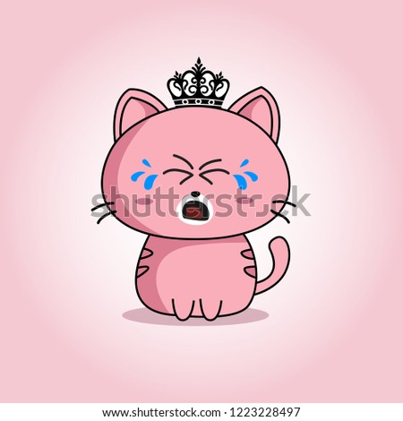 vector expression of a cute cat