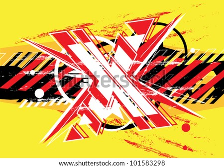 vector extreme game abstract background design