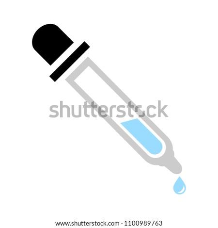 vector eye dropper illustration, eyedropper tube - medicine icon
