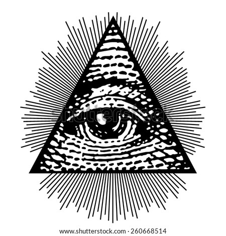 vector eye of  providence
