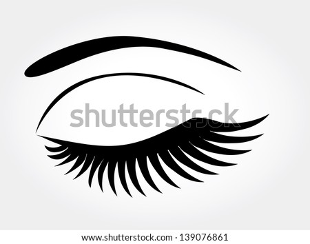 vector images, illustrations and cliparts: vector eye with long