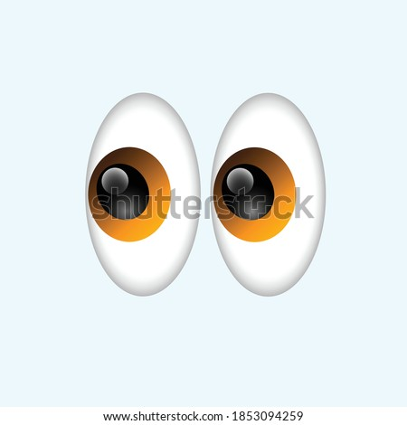 vector Eyeballs Shifty Wide Eyes emoticons comment social media Facebook Instagram Whatsapp chat comment reactions, icon template face emoji character message