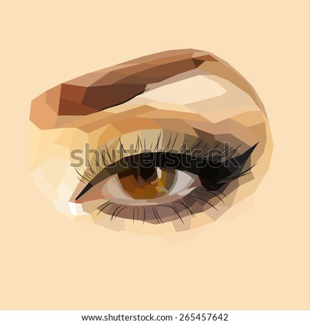 vector eyes  female eye makeup