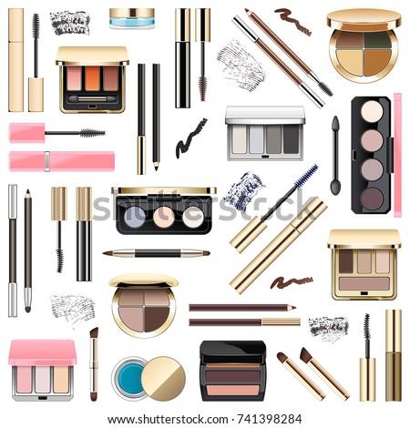 Vector Eyes Makeup Cosmetics