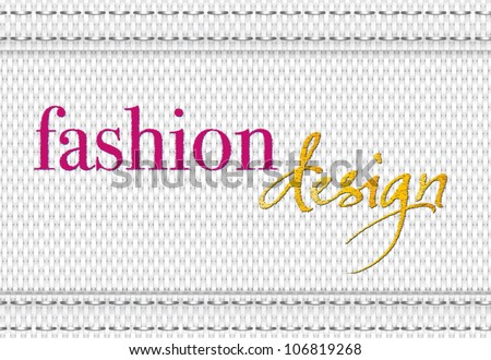 "Vector fabric pattern with embroidery ""fashion design"""