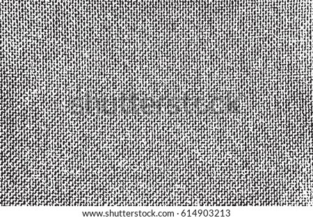 Vector fabric texture. Abstract background. Overlay illustration over any design to create interesting vintage rustic effect and depth. For posters, banners, retro designs.an #614903213