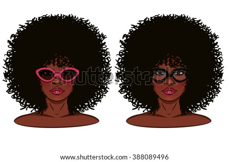 vector face of girl portrait