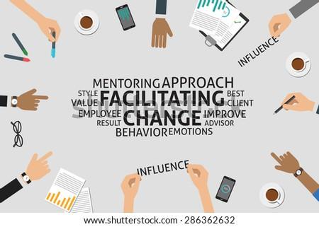 vector facilitating change concept,template Stock photo ©