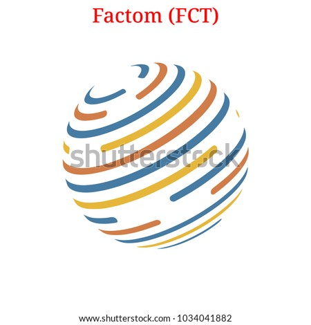 Vector Factom (FCT) digital cryptocurrency logo. Factom (FCT) icon. Vector illustration isolated on white background.