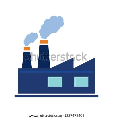 vector factory buildings element. industrial icon