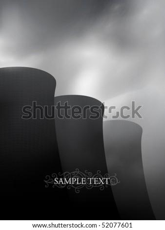 vector factory chimneys