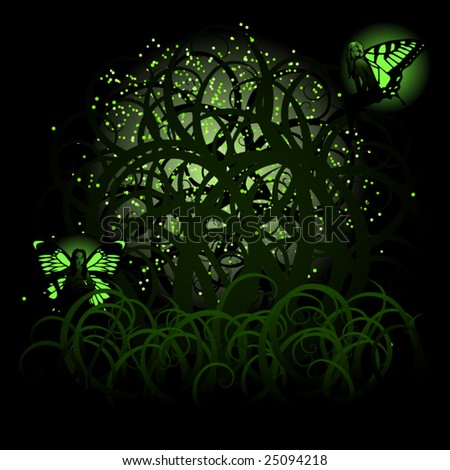 vector fairies and fireflies