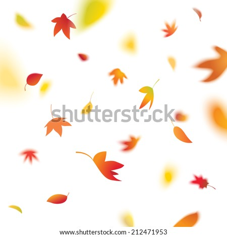 vector falling leaves vol 2