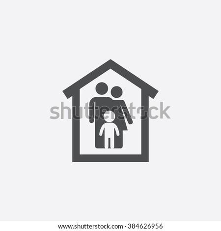 vector family home Icon
