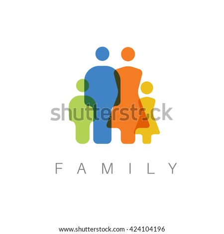 Vector Family Minimalist  concept pictogram illustration