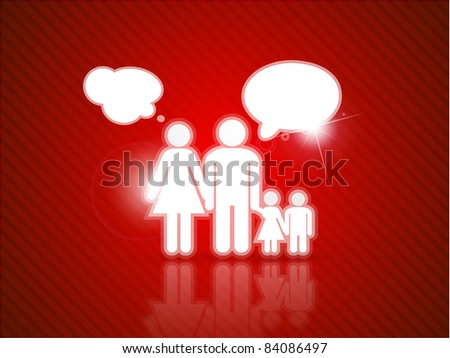 Vector family talk. Abstract background
