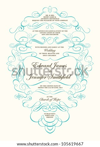 Vector Fancy Ornament Frame. Easy to edit, all ornaments are seperate. Perfect for invitations or announcements.