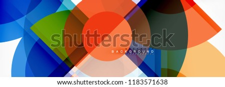 Vector fantastic circle modern geometric background template, abstract illustration #1183571638