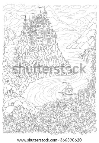 vector fantasy landscape