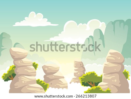 vector fantasy landscape with