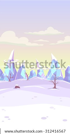 vector fantasy winter landscape