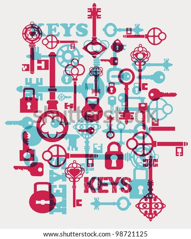 Vector fantasy with elements of keys and locks