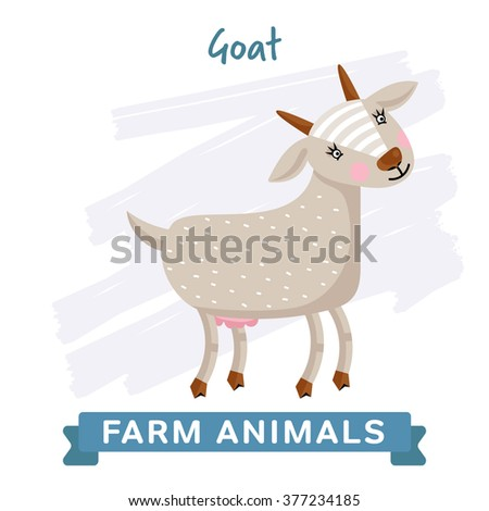 vector farm animal  goat