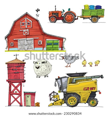 Vector Farm Set