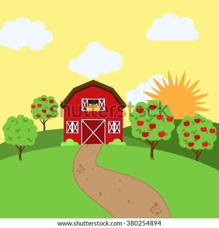 vector farm themed background