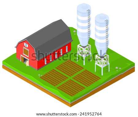vector farming image isomeric