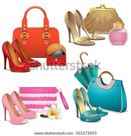 Vector Fashion Accessories Set Foto stock ©
