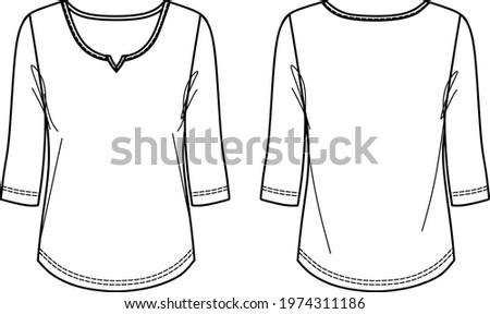 vector fashion cad t shirt