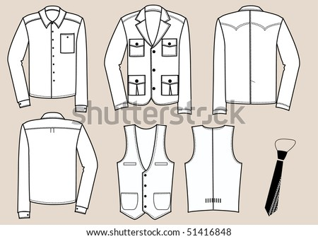 stock vector : Vector fashion clothes for man. Save to a lightbox ▼