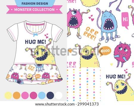 vector fashion design set for