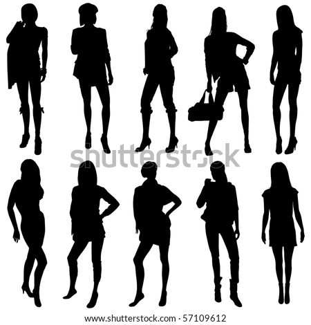Vector Fashion Model Silhouettes. This fashion illustration is perfect for a variety of different design projects.