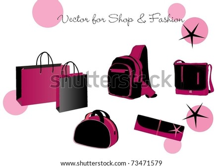Vector fashion objects