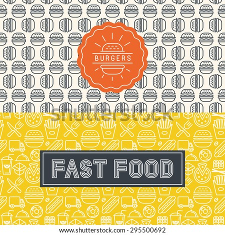 vector fast food package design
