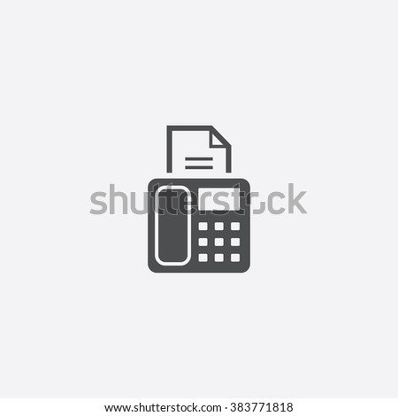 Vector fax Icon