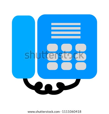 vector fax machine illustration - phone symbol isolated  #1111060418