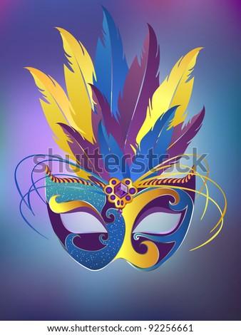 Vector festive carnival mask