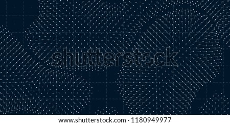 Stock Photo Vector field visualization of forces. Magnetic or gravitational fluctuations chart. Science backdrop with a matrix of arows with magnitude and direction. Flow representation. Interaction