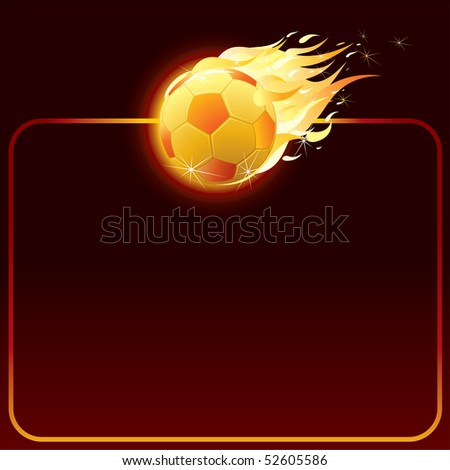 vector fiery soccer ball-background for your text (only gradients used)