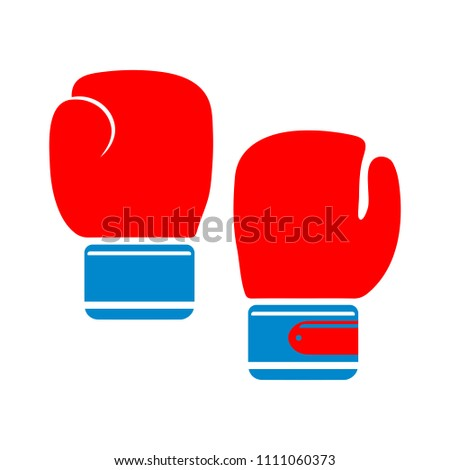 vector fight gloves illustration isolated - boxing icon