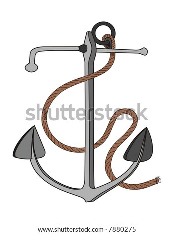vector file anchor with rope