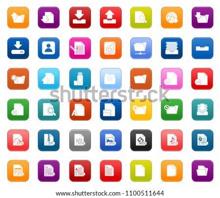 vector file format and document Icons set - business, office and computer icons