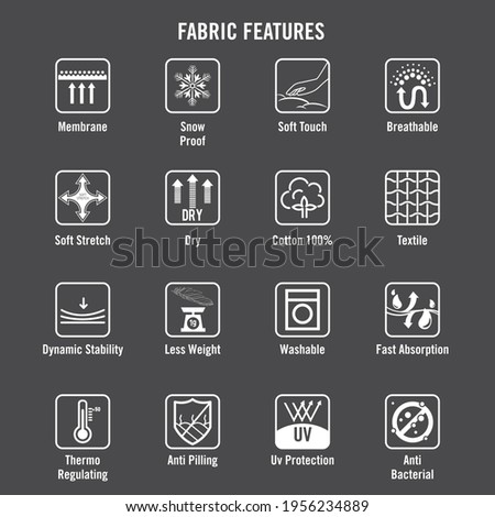 Vector file of cloth functional icons.