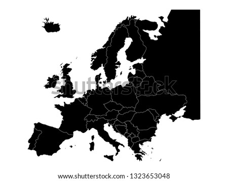vector file of europe map with countries